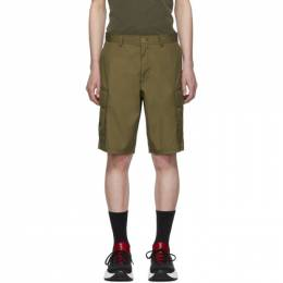 Helmut Lang Tan Aviator Shorts 192154M19300101GB