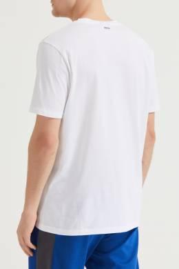 Белая футболка с контрастным логотипом Hugo Boss 622129714