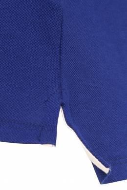 Синее поло с контрастным воротником Gucci Kids 1256130190
