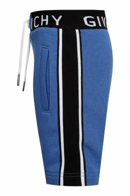 Голубые шорты с логотипом Givenchy Kids 2893130251