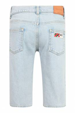 Светло-голубые шорты Gucci Kids 1256130252