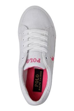 Белые кеды с контрастной отделкой Ralph Lauren Kids 1252130273