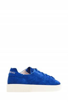 Замшевые синие кеды Bikkembergs 1487130488