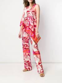 Emilio Pucci - двухслойная юбка Copacabana с принтом M559R309933698390000