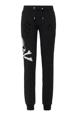 Черные брюки с прорезями Philipp Plein 1795130851