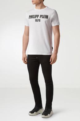 Белая футболка с контрастным логотипом Philipp Plein 1795130758
