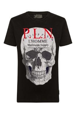 Черная футболка с графичным принтом Philipp Plein 1795130763