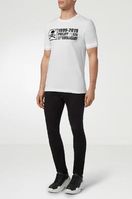 Белая футболка с рельефной надписью Philipp Plein 1795130774