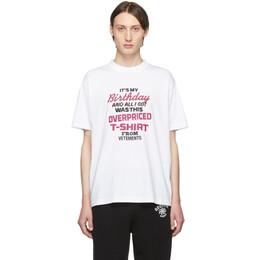 Vetements White Birthday T-Shirt 192669M21303305GB