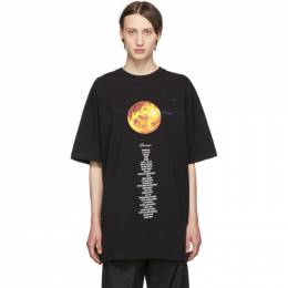 Vetements Black Venus Planet Number T-Shirt 192669M21302803GB