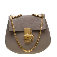 Chloe Grey Leather Small Drew Shoulder Bag 197210