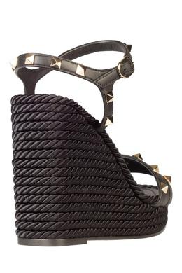 Черные комбинированные босоножки Rockstud Valentino 210132195