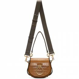 Chloe Brown Small Croc Tess Bag 192338F04804801GB