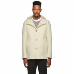 Herno White Wool Thick Coat 192829M18300202GB