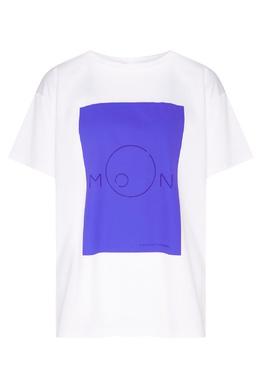 Белая футболка с принтом Alexander Terekhov 74131564