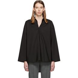 Mm6 Maison Margiela Black Keyhole Shirt 192188F10901104GB