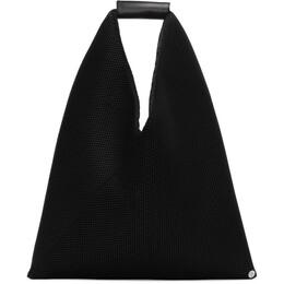 Mm6 Maison Margiela Black Small Mesh Triangle Tote S54WD0043 PR992