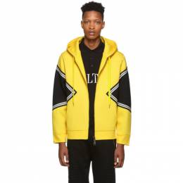 Neil Barrett Yellow Modernist Hoodie 192368M20200104GB