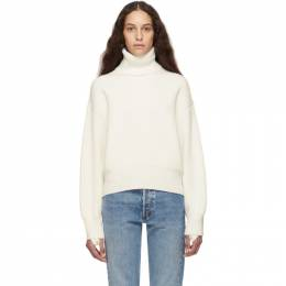 Helmut Lang Off-White Wool and Cotton Turtleneck 192154F09900302GB