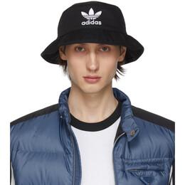 Adidas Originals Black Adiocolor Bucket Hat 192751M14000101GB