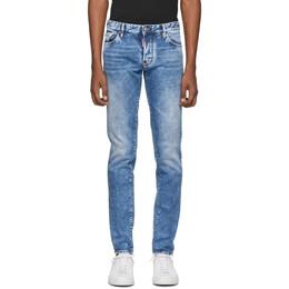 Dsquared2 Blue Slim Jeans 192148M18600206GB
