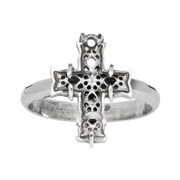Emanuele Bicocchi Silver Cross Ring 192883M14700403GB
