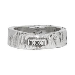 Emanuele Bicocchi Silver Record Ring 192883M14700903GB