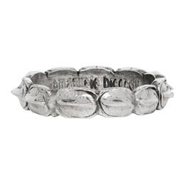 Emanuele Bicocchi Silver Croc Hornback Ring CLA2