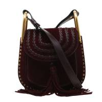 Chloe Burgundy Suede Mini Hudson Shoulder Bag 197420