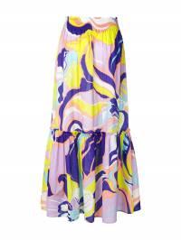 Emilio Pucci - юбка макси Mirabilis с принтом и оборками V959R335933699060000