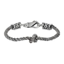 Emanuele Bicocchi Silver Twisted Knot Bracelet 192883M14204502GB