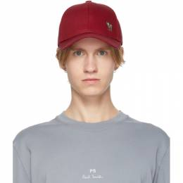 Ps by Paul Smith Red Zebra Baseball Cap M2A-987C-BZEBRA