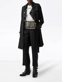 Burberry - атласные брюки строгого кроя с заклепками 50359596908300000000