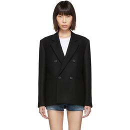 Saint Laurent Black Wool Double-Breasted Jacket 192418F06300105GB