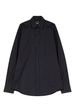 Черная рубашка с фирменным паттерном Dolce&Gabbana 599134652