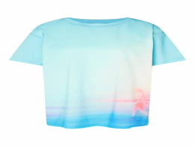 Голубая футболка с разводами Alexander Terekhov 74124918