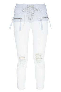 Двухцветные джинсы со шнуровкой Unravel Project 2852134854