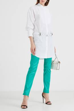 Атласные брюки бирюзового цвета P.a.r.o.s.h. 393134914