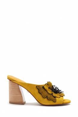 Желтые мюли с цветами Lola Cruz 1698135287
