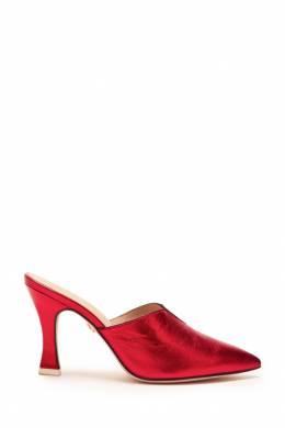 Красные мюли с v-вырезом Lola Cruz 1698135286