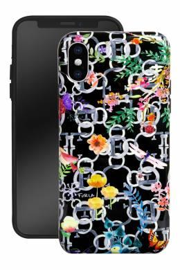 Черный чехол для телефона High Tech с принтом Furla 1962135814