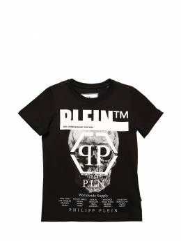 Футболка Из Хлопкового Джерси Philipp Plein Junior 70IFGZ009-MDI1