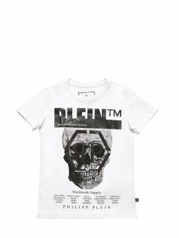 Футболка Из Хлопкового Джерси Philipp Plein Junior 70IFGZ009-MDE1