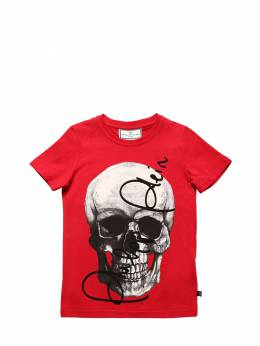 Футболка Из Хлопкового Джерси Philipp Plein Junior 70IFGZ001-MTM1