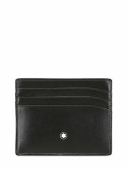 Meisterstuck Leather Card Holder Montblanc 69IVNU008-QkxBQ0s1