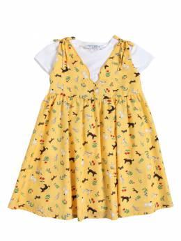 Платье Из Хлопка И Джерси Vivetta 67IFFO037-MTc1