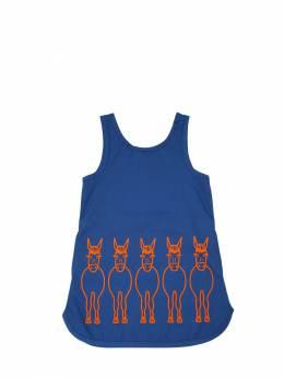 Платье Из Дрилла С Принтом Stella McCartney Kids 67I6SH005-NDI2Mg2
