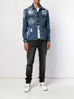Philipp Plein - джинсовая куртка с эффектом потертости CMDB6989PDE665N95689
