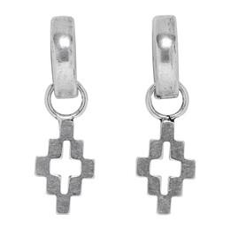 Marcelo Burlon County Of Milan Silver Cross Pendant Hoop Earrings 192539M14400101GB
