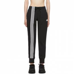 Adidas Originals Black Asymmetric 3-Stripes Lounge Pants 192751F08604203GB